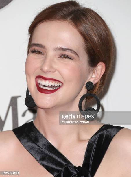 Actress Zoey Deutch wearing Max Mara attends the Women In Film 2017 Crystal Lucy Awards presented By Max Mara and BMW at The Beverly Hilton Hotel on...