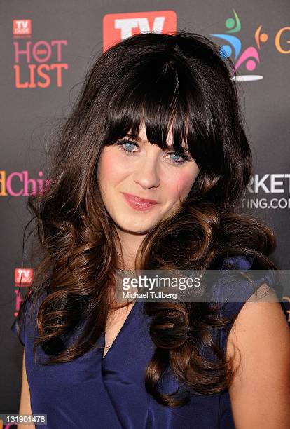 Actress Zooey Deschanel arrives at TV Guide Magazine's Annual Hot List Party at Greystone Mansion Supperclub on November 7 2011 in Beverly Hills...