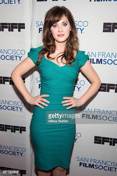 Actress Zooey Deschanel arrives to Film Society Awards Night at San Francisco International Film Festival on May 1 2014 in San Francisco California