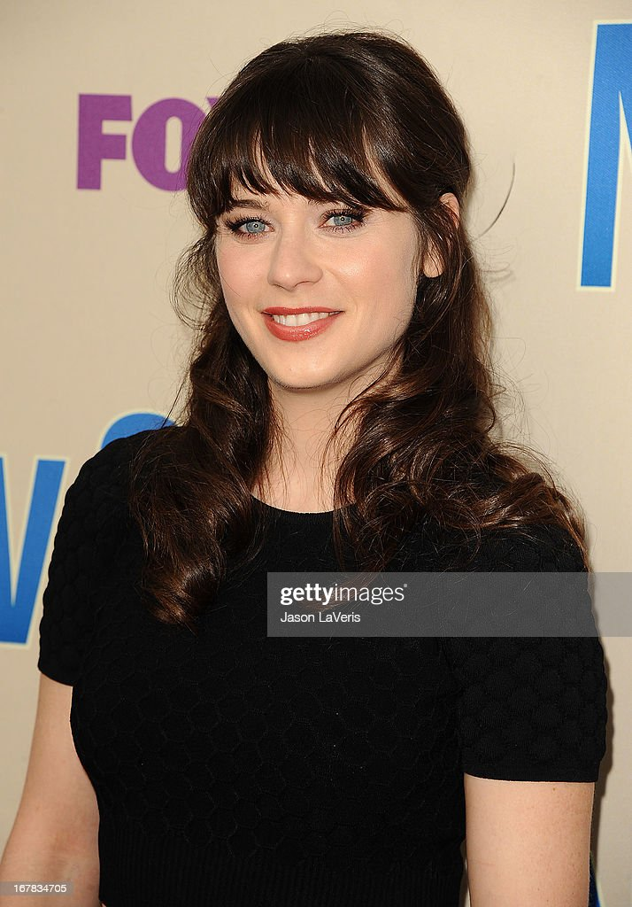 Actress <a gi-track='captionPersonalityLinkClicked' href=/galleries/search?phrase=Zooey+Deschanel&family=editorial&specificpeople=202927 ng-click='$event.stopPropagation()'>Zooey Deschanel</a> attends a screening and Q&A of 'New Girl' at Leonard H. Goldenson Theatre on April 30, 2013 in North Hollywood, California.