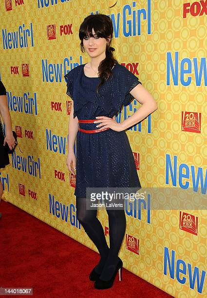 Actress Zooey Deschanel attends a special screening 'New Girl' at Leonard H Goldenson Theatre on May 7 2012 in North Hollywood California