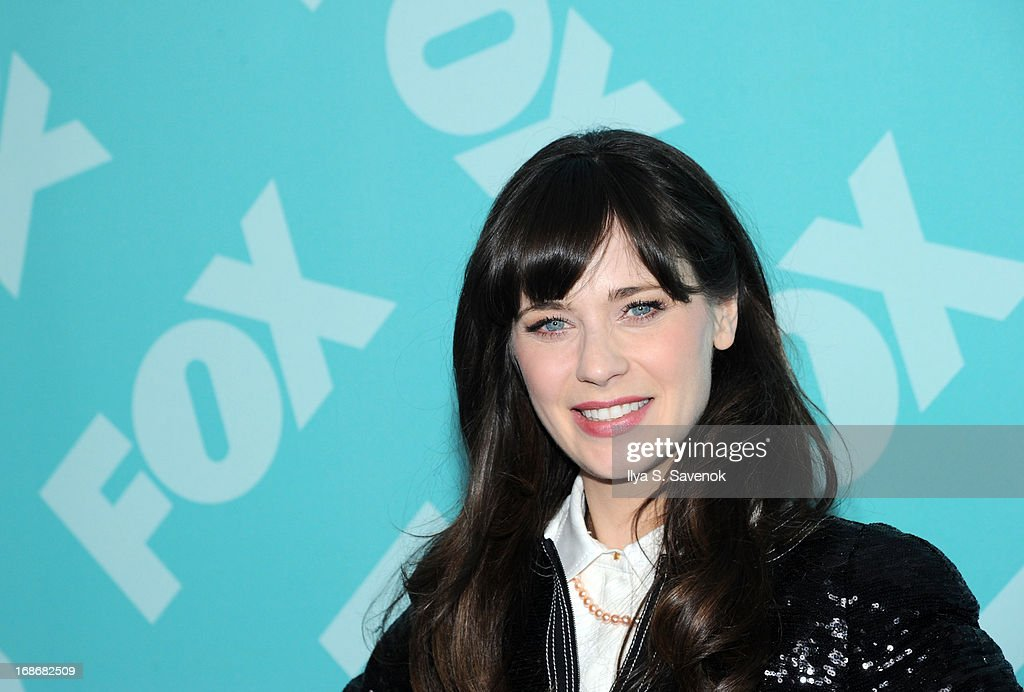 Actress <a gi-track='captionPersonalityLinkClicked' href=/galleries/search?phrase=Zooey+Deschanel&family=editorial&specificpeople=202927 ng-click='$event.stopPropagation()'>Zooey Deschanel</a> attends FOX 2103 Programming Presentation Post-Party at Wollman Rink - Central Park on May 13, 2013 in New York City.