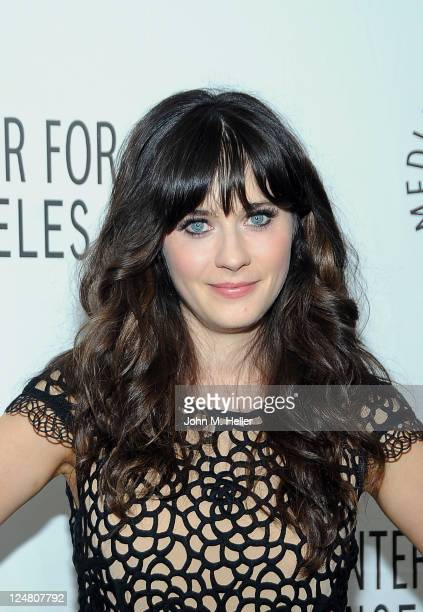 Actress Zooey Deschanel attends the 2011 PaleyFest FOX Fall TV Preview at the Paley Center for Media on September 12 2011 in Beverly Hills California