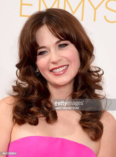 Actress Zooey Deschanel attends the 66th Annual Primetime Emmy Awards held at Nokia Theatre LA Live on August 25 2014 in Los Angeles California