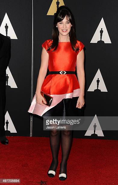 Actress Zooey Deschanel attends the 7th annual Governors Awards at The Ray Dolby Ballroom at Hollywood Highland Center on November 14 2015 in...