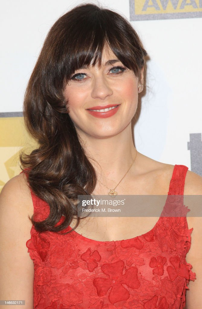 Actress <a gi-track='captionPersonalityLinkClicked' href=/galleries/search?phrase=Zooey+Deschanel&family=editorial&specificpeople=202927 ng-click='$event.stopPropagation()'>Zooey Deschanel</a> attends The Critics' Choice Television Awards at The Beverly Hilton Hotel on June 18, 2012 in Beverly Hills, California.