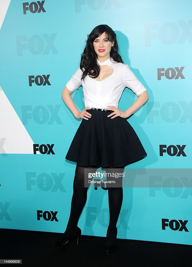 Actress <a gi-track='captionPersonalityLinkClicked' href=/galleries/search?phrase=Zooey+Deschanel&family=editorial&specificpeople=202927 ng-click='$event.stopPropagation()'>Zooey Deschanel</a> attends the Fox 2012 Programming Presentation Post-Show Party at Wollman Rink - Central Park on May 14, 2012 in New York City.