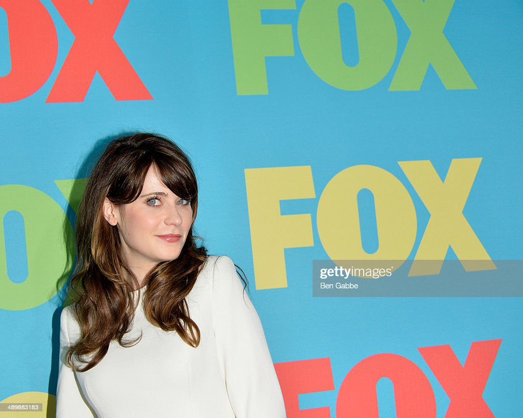 Actress <a gi-track='captionPersonalityLinkClicked' href=/galleries/search?phrase=Zooey+Deschanel&family=editorial&specificpeople=202927 ng-click='$event.stopPropagation()'>Zooey Deschanel</a> attends the FOX 2014 Programming Presentation at the FOX Fanfront on May 12, 2014 in New York City.