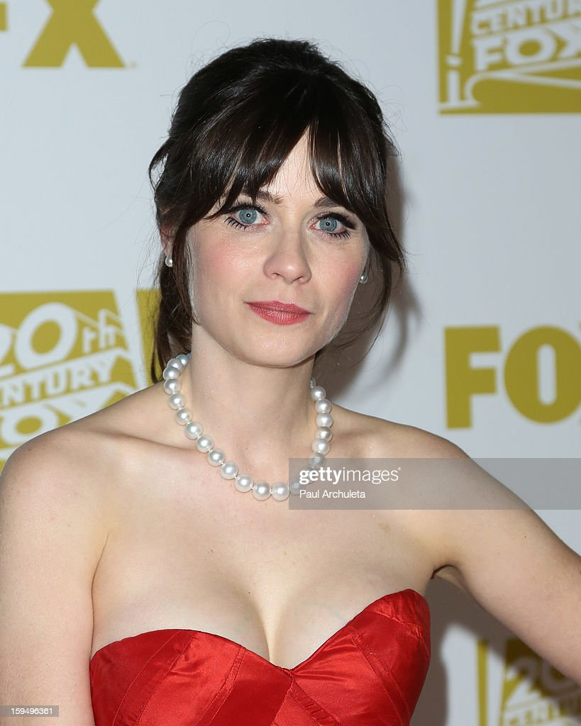 Actress Zooey Deschanel attends the FOX after party for the 70th Golden Globes award show at The Beverly Hilton Hotel on January 13, 2013 in Beverly Hills, California.