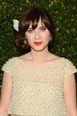 Actress Zooey Deschanel attends the Fox And FX's 2014 Golden Globe Awards Party on January 12 2014 in Beverly Hills California