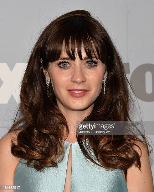 Actress Zooey Deschanel attends the FOX Broadcasting Company Twentieth Century FOX Television and FX Post Emmy Party at Soleto on September 22 2013...