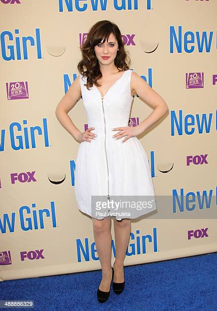 Actress Zooey Deschanel attends the 'New Girl' season 3 screening and cast QA at Zanuck Theater at 20th Century Fox Lot on May 8 2014 in Los Angeles...