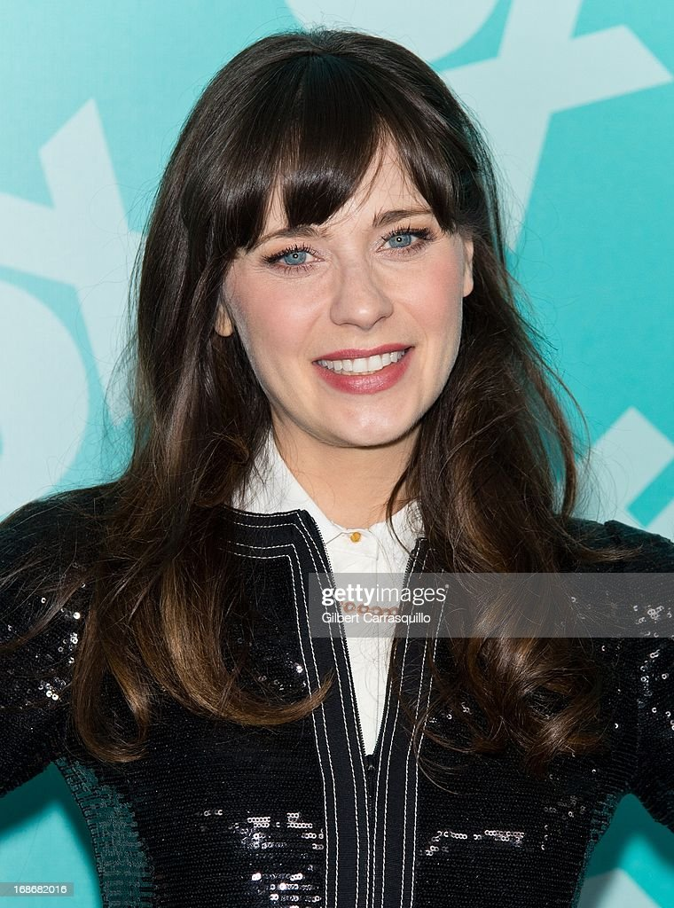 Actress Zooey Deschanel of 'New Girl' attends the FOX 2103 Programming Presentation Post-Party at Wollman Rink - Central Park on May 13, 2013 in New York City.