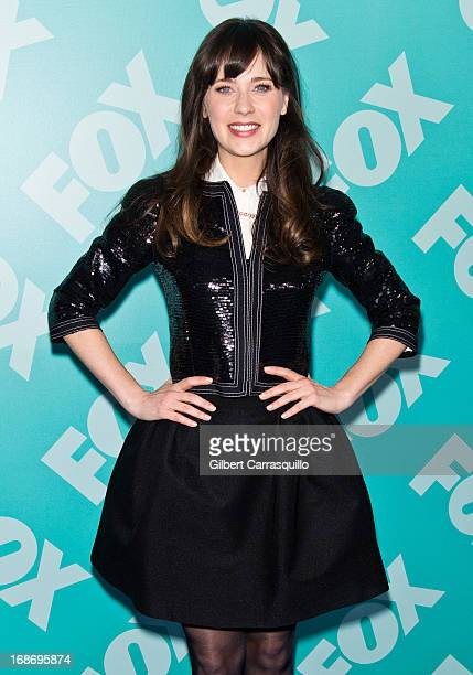 Actress Zooey Deschanel of 'New Girl' attends the FOX 2103 Programming Presentation PostParty at Wollman Rink Central Park on May 13 2013 in New York...