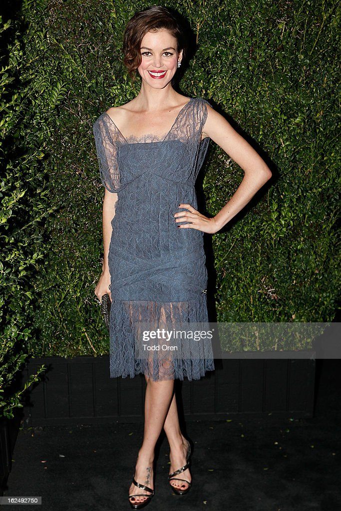 Actress Zora Zehetner attends the CHANEL Pre-Oscar Dinner at Madeo Restaurant on February 23, 2013 in Los Angeles, California.