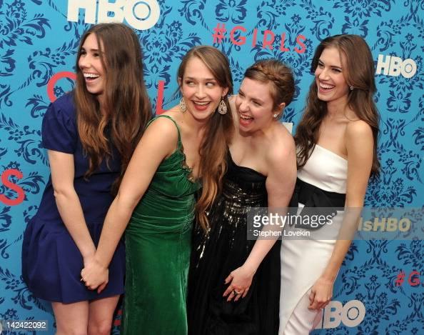 Actress Zosia Mamet actress Jemima Kirke actress/creator/executive producer Lena Dunham and actress Allison Williams attend the HBO with The Cinema...