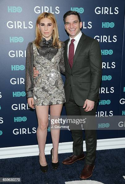 Actress Zosia Mamet and actor Evan Jonigkeit attend The New York Premiere Of The Sixth Final Season Of 'Girls' at Alice Tully Hall Lincoln Center on...