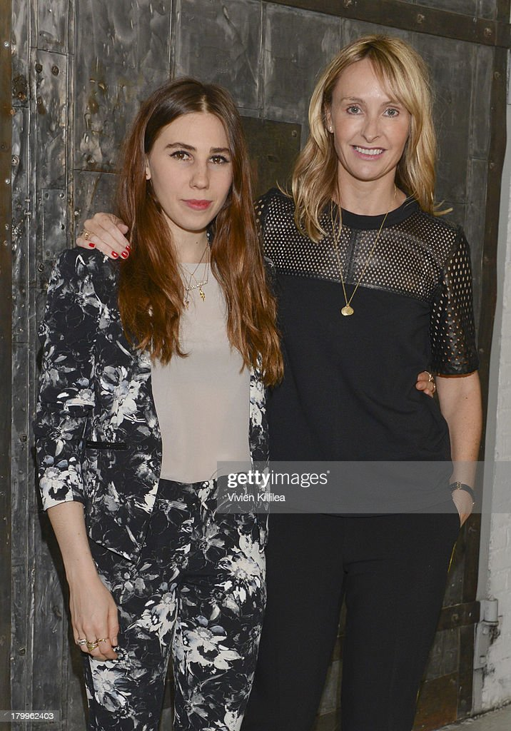 Actress <a gi-track='captionPersonalityLinkClicked' href=/galleries/search?phrase=Zosia+Mamet&family=editorial&specificpeople=7439328 ng-click='$event.stopPropagation()'>Zosia Mamet</a> and fashion designer <a gi-track='captionPersonalityLinkClicked' href=/galleries/search?phrase=Rebecca+Taylor+-+Fashion+Designer&family=editorial&specificpeople=4496766 ng-click='$event.stopPropagation()'>Rebecca Taylor</a> pose backstage at the <a gi-track='captionPersonalityLinkClicked' href=/galleries/search?phrase=Rebecca+Taylor+-+Fashion+Designer&family=editorial&specificpeople=4496766 ng-click='$event.stopPropagation()'>Rebecca Taylor</a> fashion show during Mercedes-Benz Fashion Week Spring 2014 at Center 548 on September 7, 2013 in New York City.