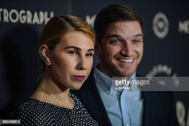 Actress Zosia Mamet and husband Evan Jonigkeit attend the Metrograph 1st Year Anniversary Party at Metrograph on March 8 2017 in New York City