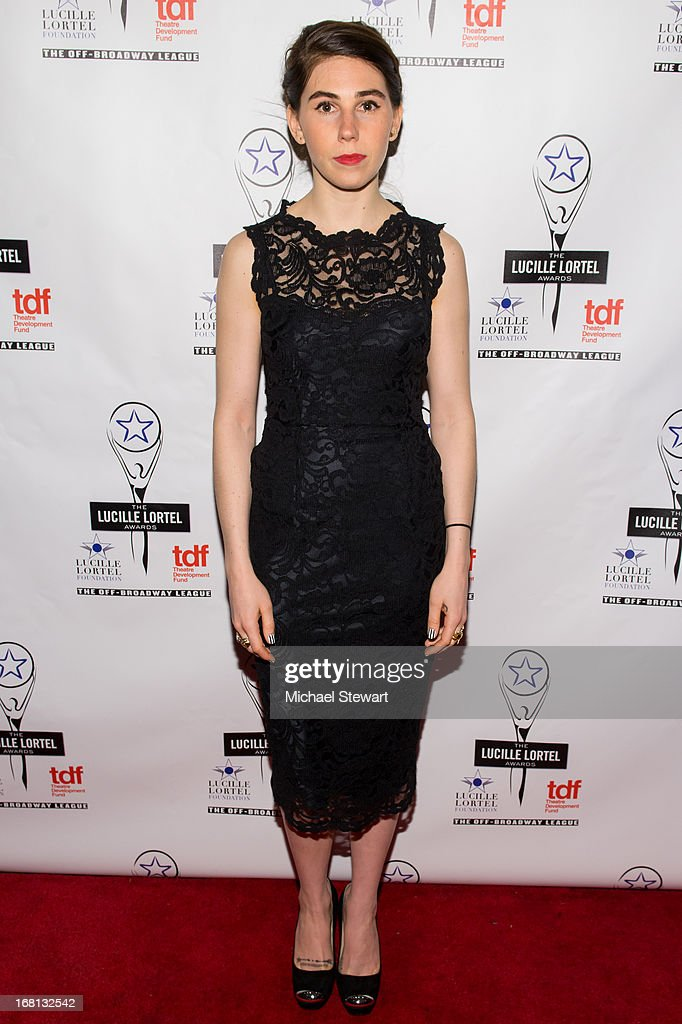 Actress <a gi-track='captionPersonalityLinkClicked' href=/galleries/search?phrase=Zosia+Mamet&family=editorial&specificpeople=7439328 ng-click='$event.stopPropagation()'>Zosia Mamet</a> attends the 2013 Lucille Lortel Awards at Jack H. Skirball Center for the Performing Arts on May 5, 2013 in New York City.