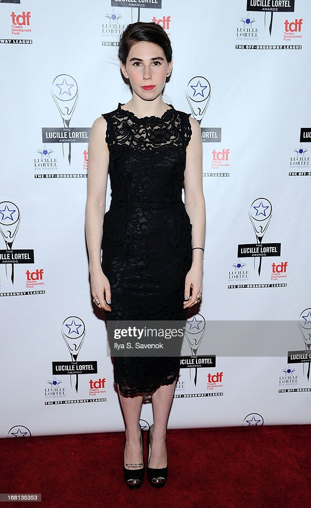 Actress <a gi-track='captionPersonalityLinkClicked' href=/galleries/search?phrase=Zosia+Mamet&family=editorial&specificpeople=7439328 ng-click='$event.stopPropagation()'>Zosia Mamet</a> attends the 28th Annual Lucille Lortel Awards at NYU Skirball Center on May 5, 2013 in New York City.