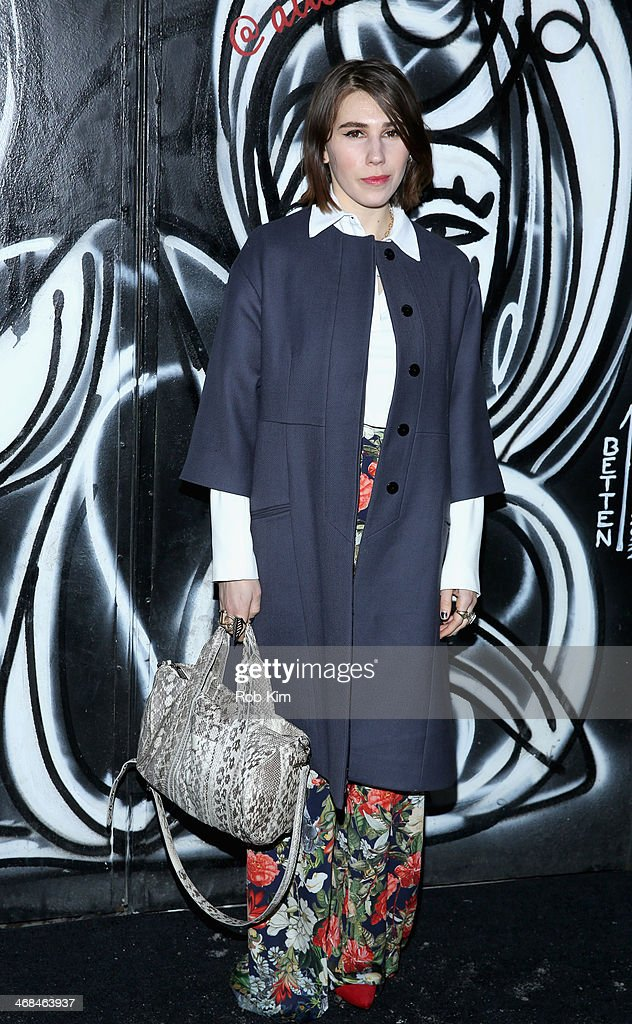 Actress Zosia Mamet attends the alice + olivia by Stacey Bendet Fall 2014 presentation during Mercedes-Benz Fashion Week Fall 2014 at The McKittrick Hotel on February 10, 2014 in New York City.