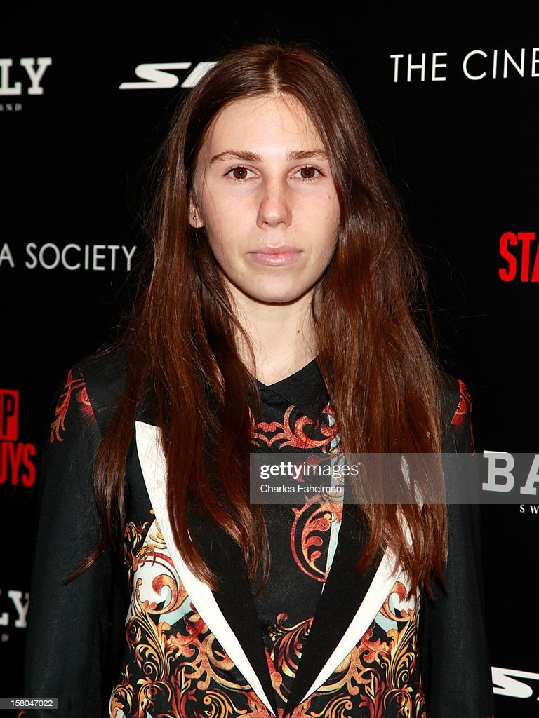 Actress Zosia Mamet attends The Cinema Society With Chrysler & Bally Host The Premiere Of 'Stand Up Guys' at The Museum of Modern Art on December 9, 2012 in New York City.