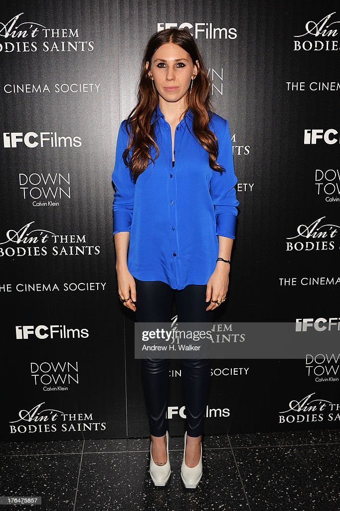 Actress <a gi-track='captionPersonalityLinkClicked' href=/galleries/search?phrase=Zosia+Mamet&family=editorial&specificpeople=7439328 ng-click='$event.stopPropagation()'>Zosia Mamet</a> attends the Downtown Calvin Klein with The Cinema Society screening of IFC Films' 'Ain't Them Bodies Saints' at the Museum of Modern Art on August 13, 2013 in New York City.