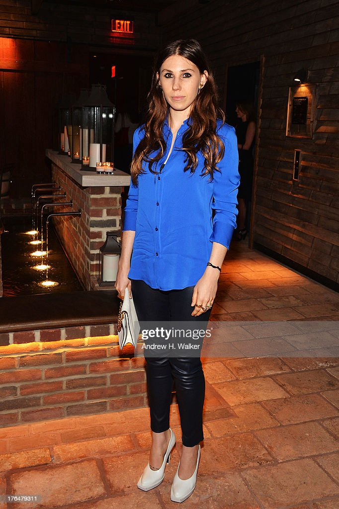 Actress <a gi-track='captionPersonalityLinkClicked' href=/galleries/search?phrase=Zosia+Mamet&family=editorial&specificpeople=7439328 ng-click='$event.stopPropagation()'>Zosia Mamet</a> attends the Downtown Calvin Klein with The Cinema Society screening of IFC Films' 'Ain't Them Bodies Saints' after party at Refinery Rooftop on August 13, 2013 in New York City.