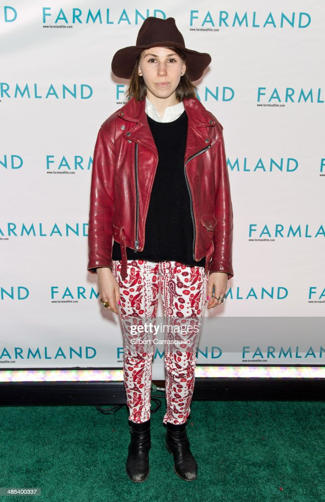 Actress Zosia Mamet attends the 'Farmland' screening at Tribeca Cinemas on April 17 2014 in New York City