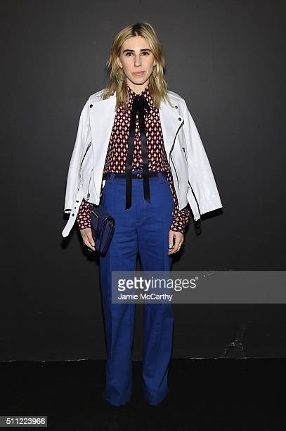 Actress Zosia Mamet attends the Marc Jacobs Fall 2016 fashion show during New York Fashion Week at Park Avenue Armory on February 18 2016 in New York...