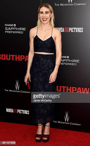 Actress Zosia Mamet attends the New York premiere of 'Southpaw' at AMC Loews Lincoln Square on July 20 2015 in New York City