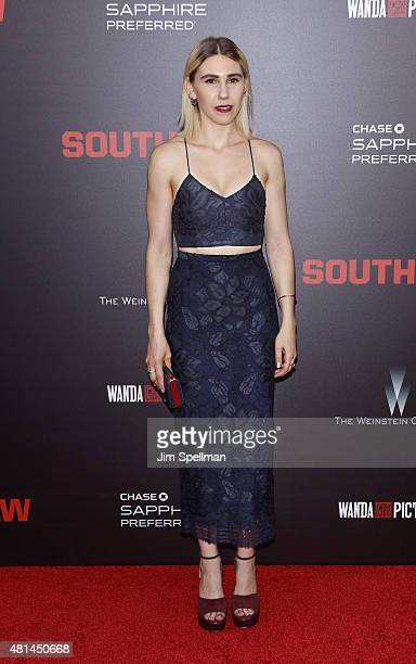 Actress Zosia Mamet attends the 'Southpaw' New York premiere at AMC Loews Lincoln Square on July 20 2015 in New York City