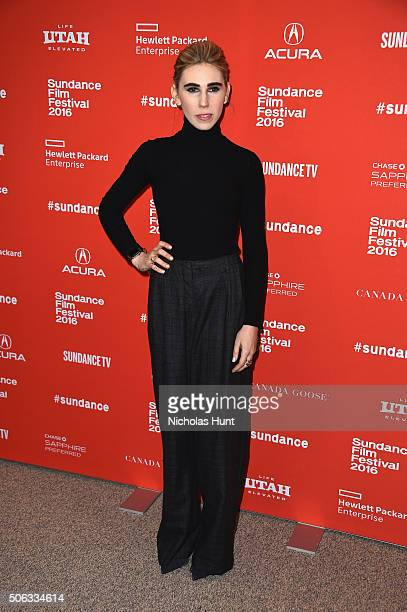 Actress Zosia Mamet attends the 'WienerDog' Premiere at Eccles Center Theatre on January 22 2016 in Park City Utah