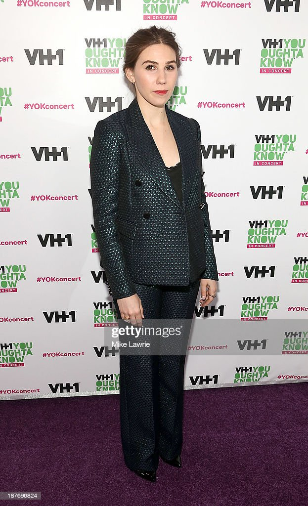 Actress <a gi-track='captionPersonalityLinkClicked' href=/galleries/search?phrase=Zosia+Mamet&family=editorial&specificpeople=7439328 ng-click='$event.stopPropagation()'>Zosia Mamet</a> attends VH1 'You Oughta Know In Concert' 2013 on November 11, 2013 at Roseland Ballroom in New York City.