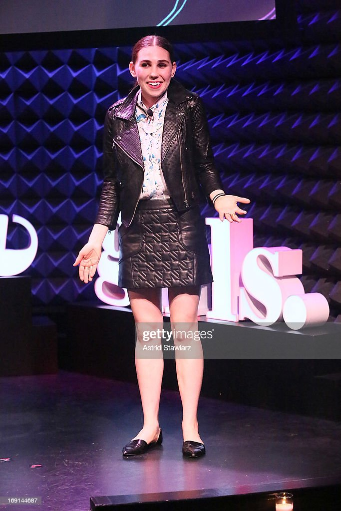 Actress <a gi-track='captionPersonalityLinkClicked' href=/galleries/search?phrase=Zosia+Mamet&family=editorial&specificpeople=7439328 ng-click='$event.stopPropagation()'>Zosia Mamet</a> performs at Glamour's presentation of 'These Girls' at Joe's Pub on May 20, 2013 in New York City.