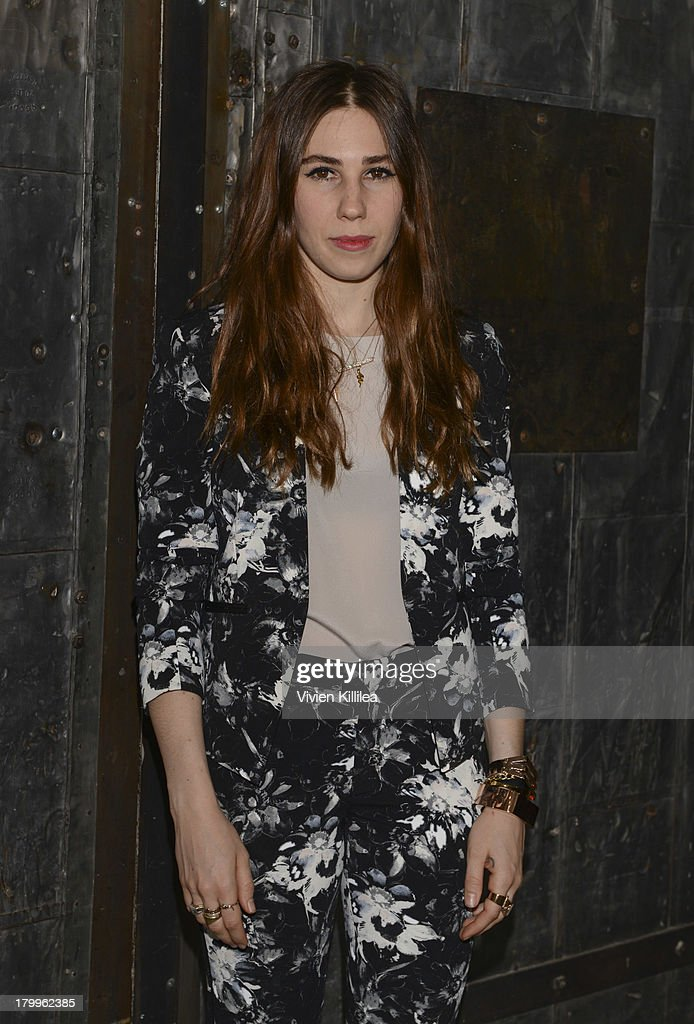 Actress <a gi-track='captionPersonalityLinkClicked' href=/galleries/search?phrase=Zosia+Mamet&family=editorial&specificpeople=7439328 ng-click='$event.stopPropagation()'>Zosia Mamet</a> poses backstage at the Rebecca Taylor fashion show during Mercedes-Benz Fashion Week Spring 2014 at Center 548 on September 7, 2013 in New York City.