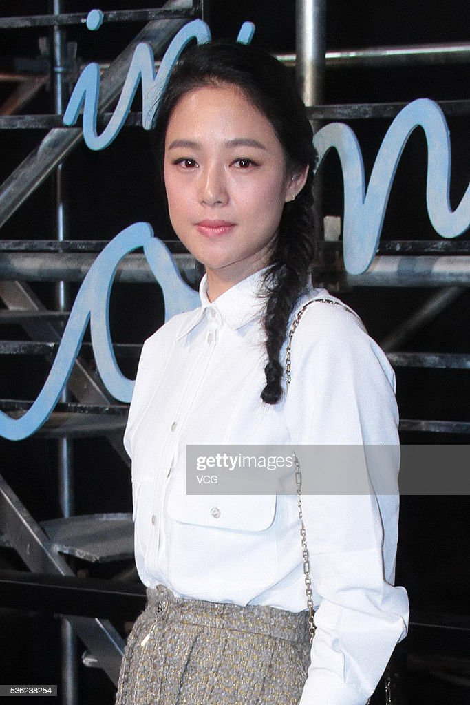 Actress Zou Yun arrives at the red carpet of a press conference of Chanel's 'Paris in Rome 2015/16' Metiers d'Art Show on May 31, 2016 in Beijing, China.