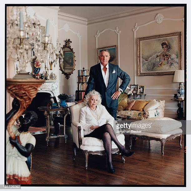 Actress Zsa Zsa Gabor and husband Prince Frederic von Anhalt are photographed at home for Vanity Fair Magazine on May 5 2007 in Bel Air California...