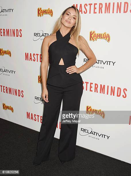 Actress Zulay Henao attends the premiere of Relativity Media's 'Masterminds' held at TCL Chinese Theatre on September 26 2016 in Hollywood California