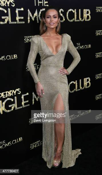 Actress Zulay Henao attends the premiere of Tyler Perry's 'The Single Moms Club' at the ArcLight Cinemas Cinerama Dome on March 10 2014 in Hollywood...