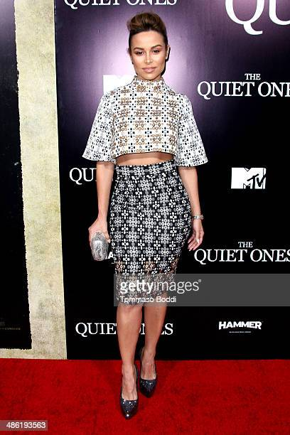 Actress Zulay Henao attends the 'The Quiet Ones' Los Angeles premiere held at The Theatre At Ace Hotel on April 22 2014 in Los Angeles California