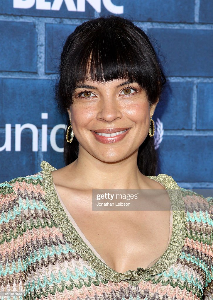 Actress Zuleikha Robinson attends a Pre-Oscar charity brunch hosted by Montblanc and UNICEF to celebrate the launch of their new 'Signature For Good 2013' Initiative with special guest Hilary Swank at Hotel Bel-Air on February 23, 2013 in Los Angeles, California.