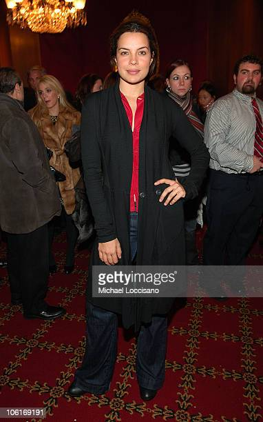 Actress Zuleikha Robinson attends 'Cassandra's Dream' reception at the Tribeca Grand Screening Room on December 18 2007 in New York City
