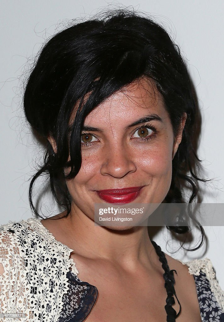 Actress Zuleikha Robinson attends the Alexander Yulish 'An Unquiet Mind' VIP opening reception at KM Fine Arts LA Studio on March 8, 2014 in Los Angeles, California.