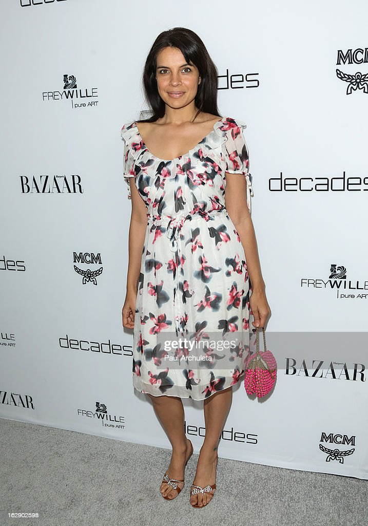Actress Zuleikha Robinson attends the Harper's BAZAAR celebration for the new Bravo series 'Dukes of Melrose' at The Terrace at Sunset Tower on February 28, 2013 in West Hollywood, California.