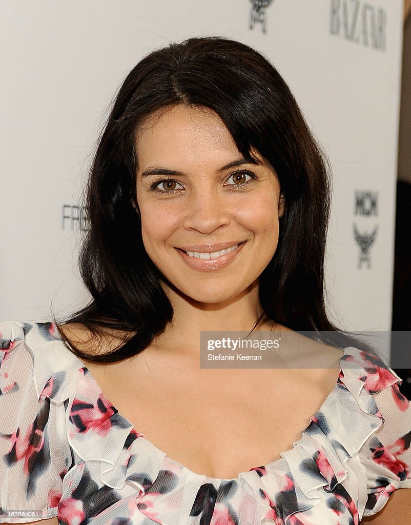 Actress Zuleikha Robinson attends the Harper's BAZAAR celebration of the launch of Bravo TV's 'The Dukes of Melrose' starring Cameron Silver and Christos Garkinos at Sunset Tower on February 28, 2013 in West Hollywood, California.