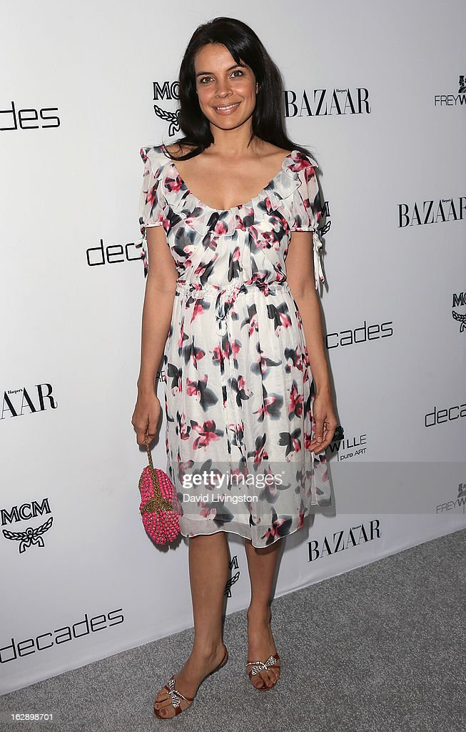 Actress Zuleikha Robinson attends the Harper's BAZAAR celebration of Cameron Silver and Christos Garkinos of Decades new Bravo series 'Dukes of Melrose' at The Terrace at Sunset Tower on February 28, 2013 in West Hollywood, California.