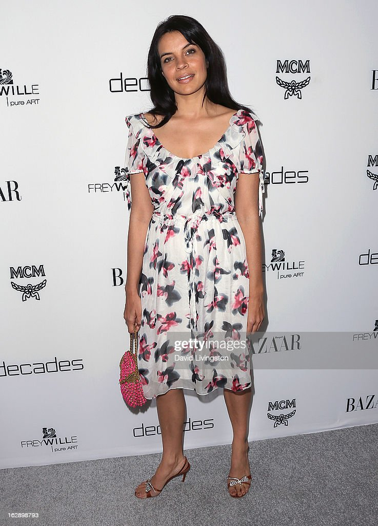 Actress <a gi-track='captionPersonalityLinkClicked' href=/galleries/search?phrase=Zuleikha+Robinson&family=editorial&specificpeople=215399 ng-click='$event.stopPropagation()'>Zuleikha Robinson</a> attends the Harper's BAZAAR celebration of Cameron Silver and Christos Garkinos of Decades new Bravo series 'Dukes of Melrose' at The Terrace at Sunset Tower on February 28, 2013 in West Hollywood, California.