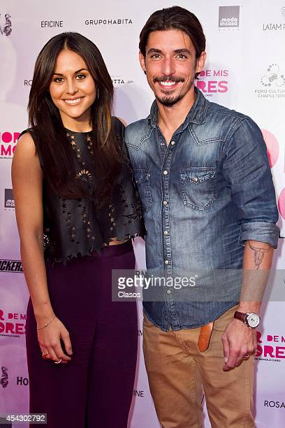 Actress Zuria Vega and Actor Alberto Guerra attend the Red Carpet of Mexican movie 'Amor de mis Amores' at Chapultepec Forum on August 27 2014 in...
